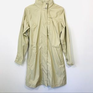 Merrell Khaki Tan Raincoat Trench Opti-shell
